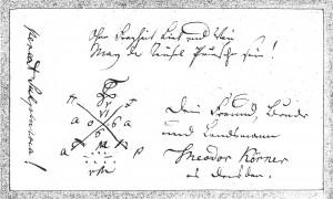 Stammbuchblatt Körner 1806